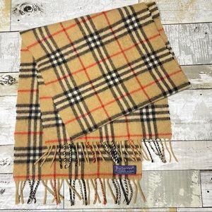 Vintage Burberry's of London plaid fringe scarf